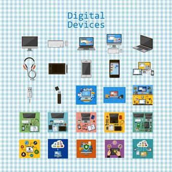 Illustration of digital equipment