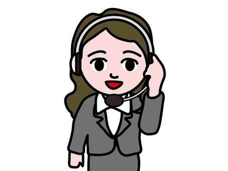 Business Women Telephone Operator