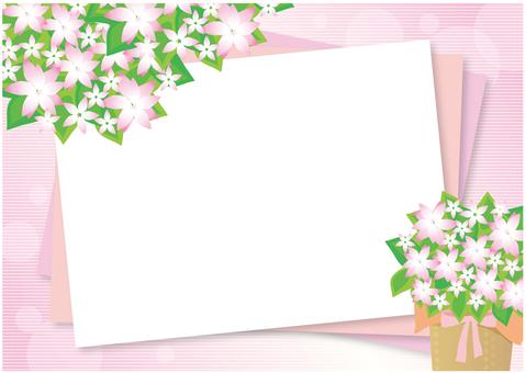 Flower frame background