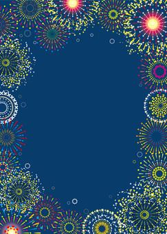 Fireworks festival summer festival event event frame frame decoration