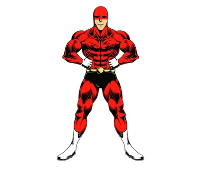 American comic style person standing pose
