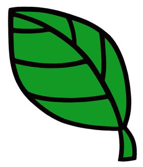 葉っぱ2 緑