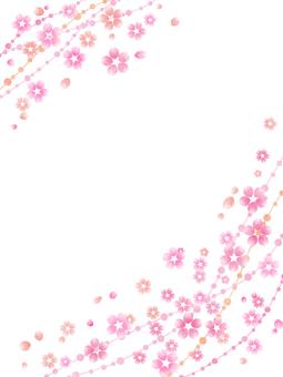 벚꽃 프레임 (세로)