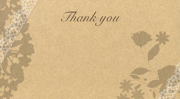 Message Card Floral Kraft Paper