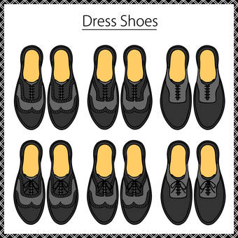 Leather shoes business shoe set 8