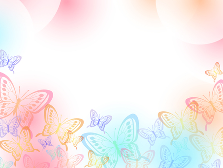 Colorful butterfly frame