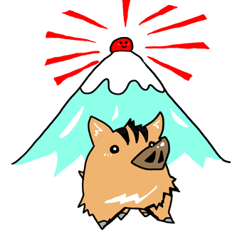Wild boar coming from Mt. Fuji