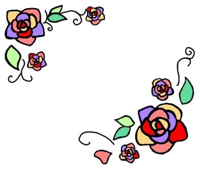 玫瑰框架·黑邊