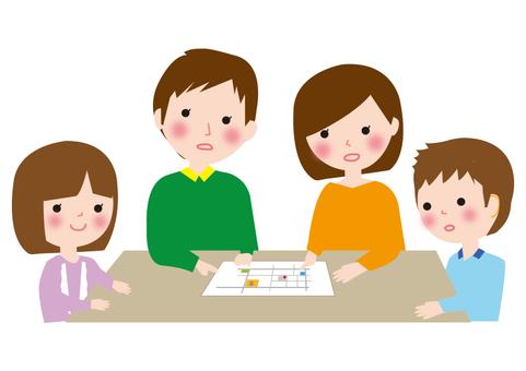 Disaster prevention family talks