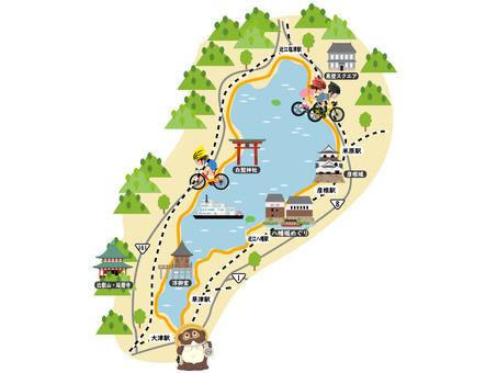 Lake Biwa Round MAP