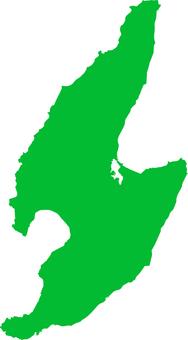 Sado Island _ silhouette _ green