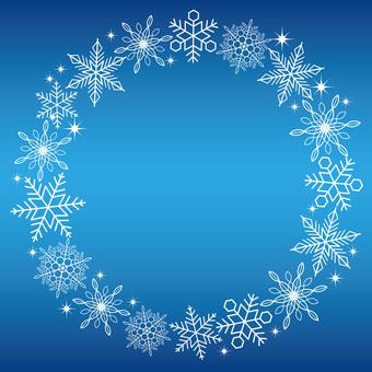 Snow crystal frame round shape