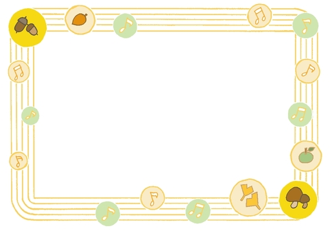 Horizontal frame Fall polka dot 2 yellow