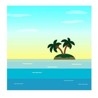 Landscape of desert island