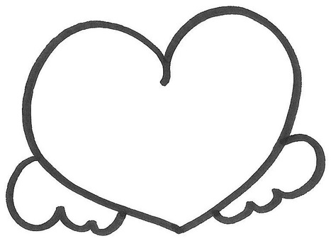 Feather heart heart wings