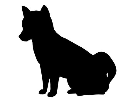 Shiba Inu (silhouette)