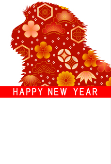 New Year card template 69