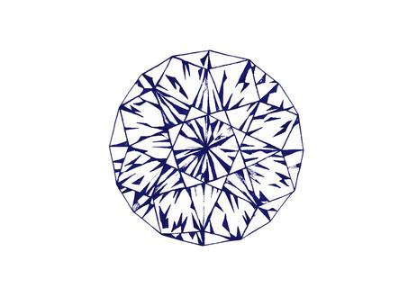 Stamp-like diamond (紺)