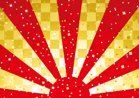 Sunrise Japanese-style background 01