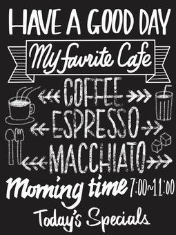 Cafe-style blackboard