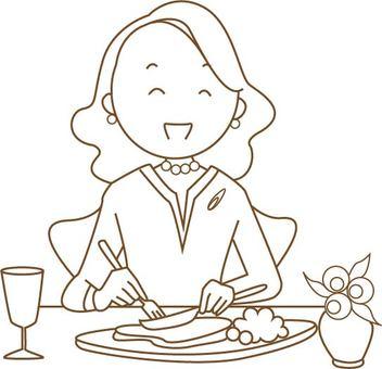 Women who eat