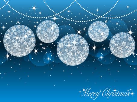 Seamless Christmas ball background blue