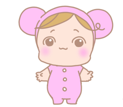 Baby in pink clothes