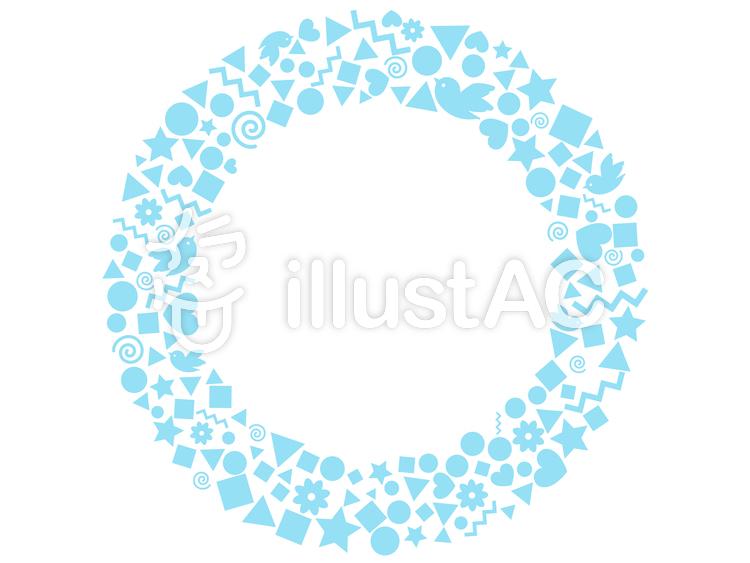 シンプルな短形のリース・ブルー