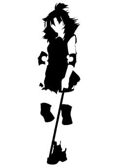 Girl silhouette 4