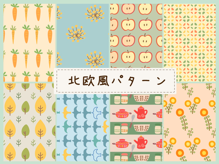 Nordic style pattern swatch