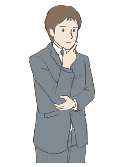 A man who thinks gesturing suit