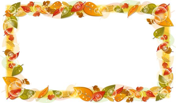 잎의 프레임 (사각형)