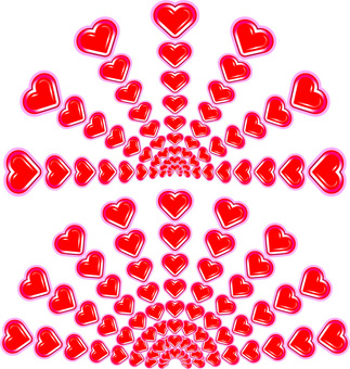 Heart-shaped radiation aftershock