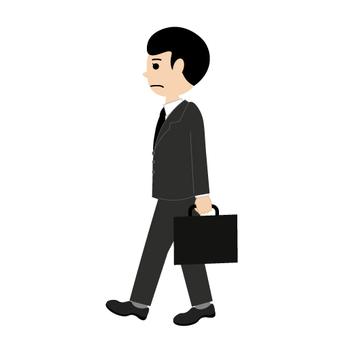 A walking businessman