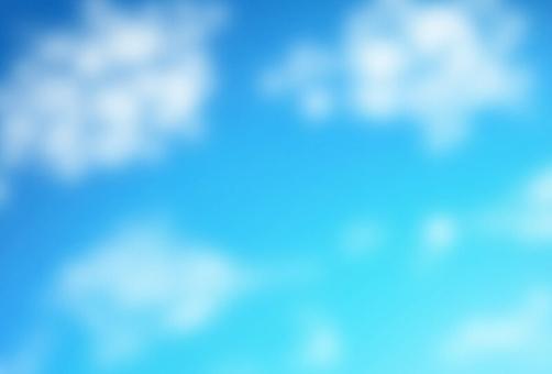 상쾌한 푸른 하늘과 흰 구름