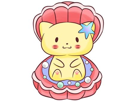 Cat and shellfish (pink)