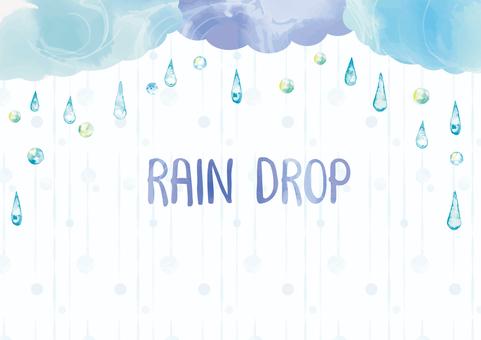 Rainy day background illustration
