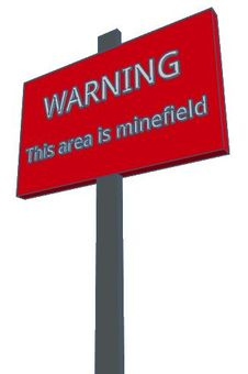 Minefield signboard