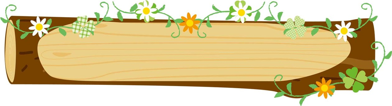 Log Frame _ Flower Decoration