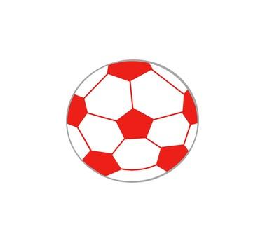 足球,紅色足球