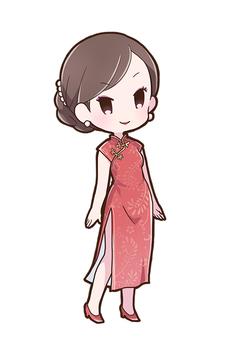 차이나 드레스 여성 01_A