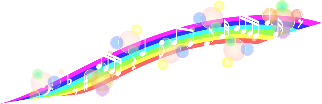 Rainbow and note material 01