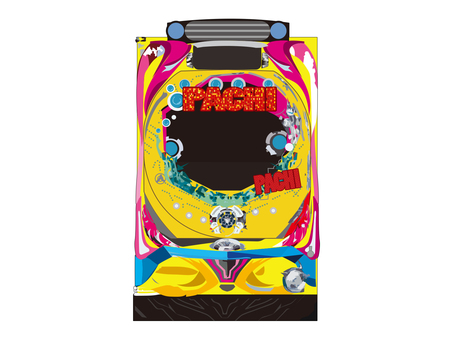 Free illust material of pachinko machine chassis