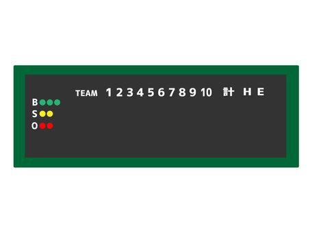 Baseball field electronic bulletin board