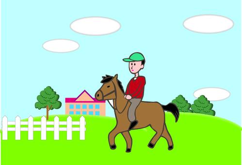 Horse male horseback riding experience