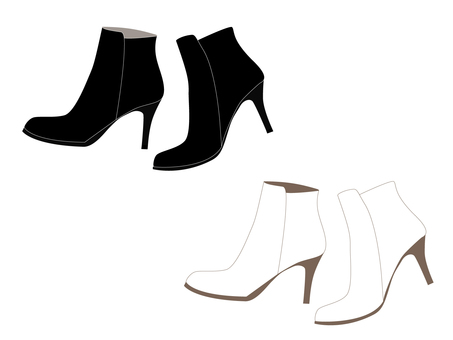 Short Boots - Black and White