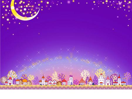 Cityscape _ dawn_ purple