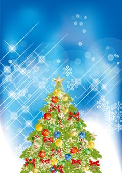 Christmas tree & snow 24