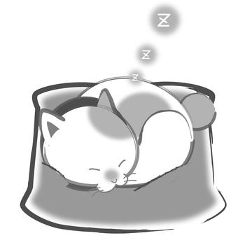 Sumi cats - a nap