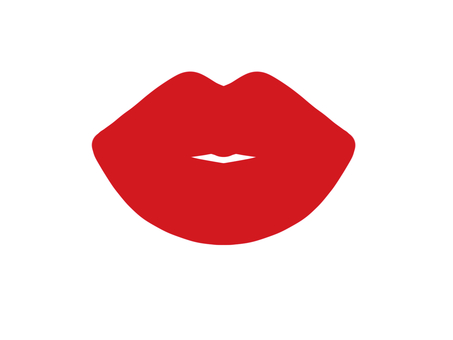 Lips red
